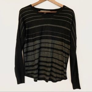 GUC French Connection Black Gray Sweater
